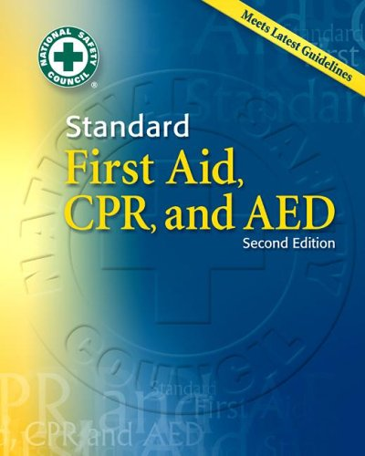 Standard First Aid, CPR and AED w/Pocket Guide (MH) - National Safety Council NSC