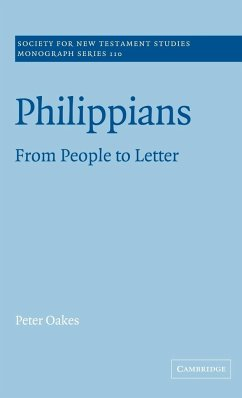 Philippians: From People to Letter - Oakes, Peter