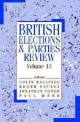 British Elections & Parties Review - Colin Rallings; Roger Scully; Jonathan Tonge; Paul Webb