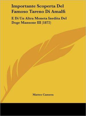 Importante Scoperta Del Famoso Tareno Di Amalfi: E Di Un Altra Moneta Inedita Del Doge Mansone III (1872) - Matteo Camera