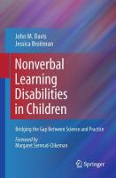 Nonverbal Learning Disabilities in Children