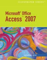 Microsoft Office Access 2007 Illustrated Brief