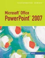 Microsoft Office PowerPoint 2007 Illustrated: Brief