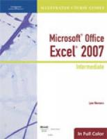Microsoft Office Excel 2007: Intermediate