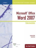 Microsoft Office Word 2007: Intermediate: Illustrated Intermediate: Course Guide (Illustrated Course Guides in Full Color)