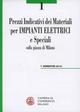 Prezzi indicativi dei materiali per impianti elettrici