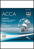 ACCA - F3 Financial Accounting (GBR)