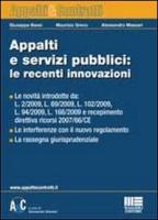 Appalti e servizi pubblici: le recenti innovazioni