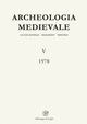 Archeologia medievale (1978). Vol. 5