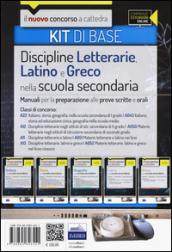 CC 4/6 discipline letterarie, latino e greco. Manuali... Classi di concorso: A22, A043, A12, A050, A11, A051, A13, A052. Kit di base. Con espansione online